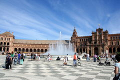 Plaza de Espana in Seville Royalty Free Stock Image
