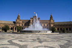 Plaza de Espana, Seville. Exhibition place and building in Sevilla, Southern Spain Stock Photos