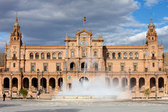 Plaza de Espana in Seville. Plaza de Espana (Spain's Square) Renaissance Revival style pavilion and fountain in Seville, Andalusia, Spain Royalty Free Stock Images