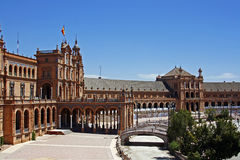 The Plaza de Espana, Seville Stock Photo