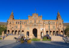 The Plaza de Espana, Seville Royalty Free Stock Photography