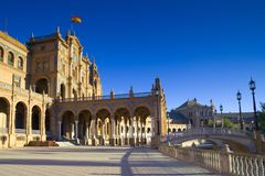 The Plaza de Espana, Seville. Andalusia (Southern Spain Stock Photography