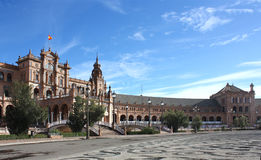 Plaza de Espana in Seville, Andalucia, Spain Royalty Free Stock Photo