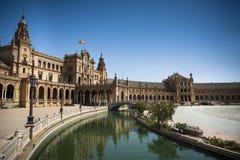 Plaza de Espana in Seville in Andalusia Stock Photos