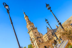 Plaza de espana Seville, Andalusia, Spain. Royalty Free Stock Images