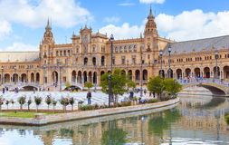 Plaza de Espana in Seville, Andalusia, Spain, Europe. Stock Image
