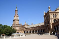 Plaza De Espana, Seville, Andalusia, Spain Royalty Free Stock Photography