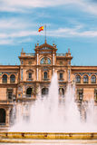 Plaza de Espana in Seville, Andalusia, Spain. Renaissance Reviva Stock Photography