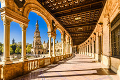 Plaza de espana Seville, Andalusia, Spain. Royalty Free Stock Photos