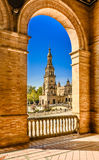Plaza de espana Seville, Andalusia, Spain. Stock Photo