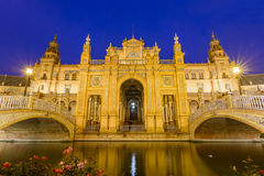 Plaza de espana Seville, Andalusia, Spain. Stock Image
