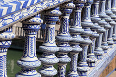 Plaza De Espana, Seville, Andalusia, Spanien Arkivbilder