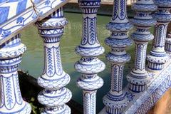 Plaza De Espana, Seville, Andalusia, Spanien Royaltyfri Fotografi