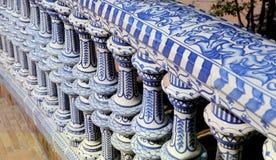 Plaza De Espana, Seville, Andalusia, Spanien Fotografering för Bildbyråer