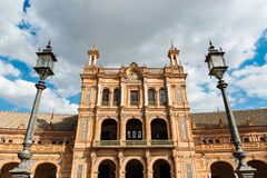 Plaza de Espana in Seville, Andalusia Stock Photography