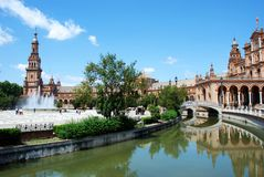 Plaza de Espana, Seville. Royalty Free Stock Images