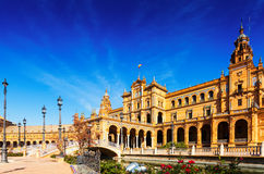 Plaza de Espana. Seville. Central building at  Plaza de Espana. Seville Royalty Free Stock Image