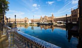 Plaza de Espana at Seville Stock Photography