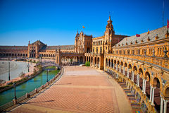Plaza de Espana, Seville, Seville Province, Spain. Stock Photo