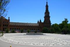 Plaza de Espana in Seville, Spain. The beautiful  Plaza de Espana in Seville, Spain Stock Images