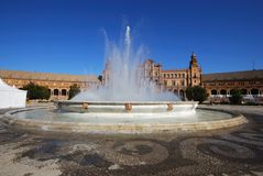 Plaza de Espana, Seville, Spain. Stock Image