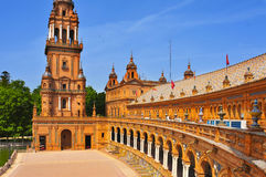 Plaza de Espana, in Seville, Spain Royalty Free Stock Images