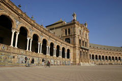 Plaza de Espana - Seville. The Plaza de Espana in Seville - Spain Royalty Free Stock Images