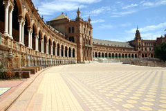 Plaza de Espana - Seville. The Plaza de Espana in Seville - Spain Stock Photos