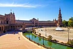 Plaza de Espana, Seville Stock Photography