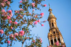 Plaza De Espana. Seville, Spain Royalty Free Stock Photos