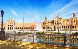 Plaza de Espana seville spain Arkivbilder