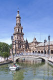 The plaza de Espana in Seville Stock Photography