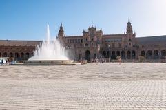 Plaza de Espana in Seville, Spain stock image