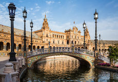 Plaza de Espana. Seville. Spain. Royalty Free Stock Photo