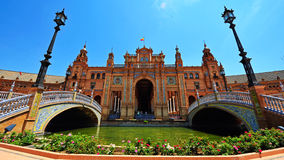 Plaza de Espana, Seville, Spain royalty free stock photos