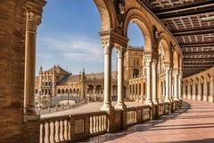 Plaza de Espana. In Seville Spain Stock Image