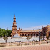 Plaza de Espana in Seville, Spain Stock Image