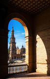 Plaza de Espana. Seville, Spain Royalty Free Stock Photography