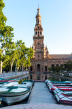 Plaza de Espana in Seville, Spain. A view of  Spain Square (Plaza de Espana) Seville, Spain Stock Photography