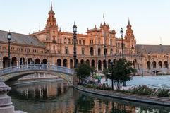 Plaza de Espana in Seville, Spain. A view of  Spain Square (Plaza de Espana) Seville, Spain Stock Photos