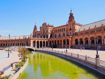 Plaza de Espana in Seville, Spain Stock Photos