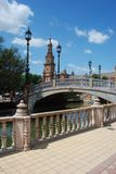 Plaza de Espana, Seville, Span. Canal and footbridge in the Plaza de Espana, Seville, Seville Province, Andalusia, Spain, Western Europe Stock Photography