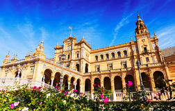 Plaza de Espana at Seville Royalty Free Stock Photos