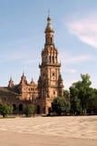 plaza de Espana Sewilli Hiszpanii Zdjęcia Royalty Free