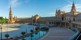 plaza de Espana Sewilli Hiszpanii fotografia stock