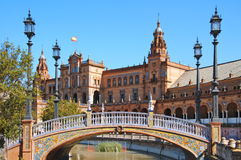 Plaza de espana, Siviglia Fotografia Stock