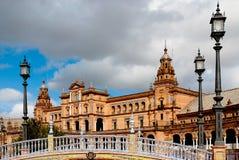 Plaza de Espana, Siviglia Immagine Stock Libera da Diritti
