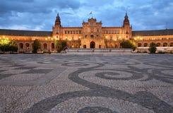 Plaza De Espana, Siviglia fotografie stock libere da diritti