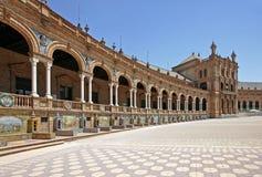 Plaza de Espana in Siviglia, Andalusia, Spagna Immagine Stock Libera da Diritti