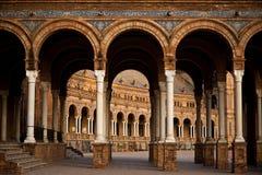 Plaza de Espana, Siviglia - Spagna fotografia stock libera da diritti